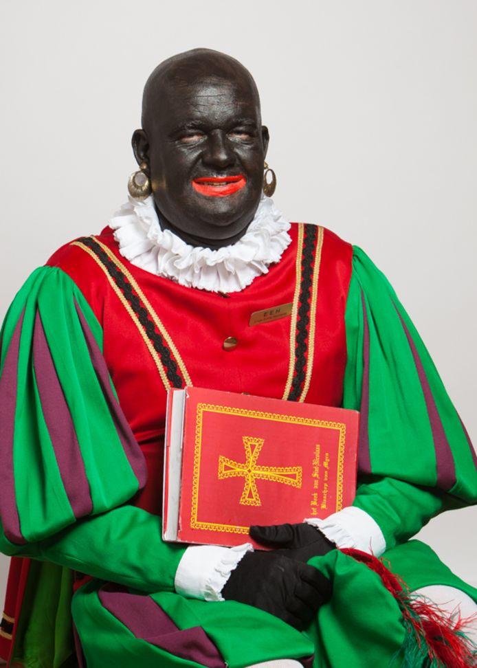 Zo zag Roelie Boelie, de Hoofdpiet van Sinterklaas in Oisterwijk, er tot voor enkele jaren uit.