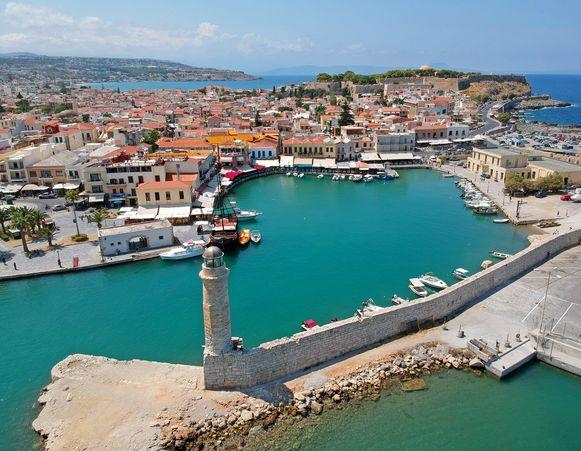 De oude haven van Rethymnon.