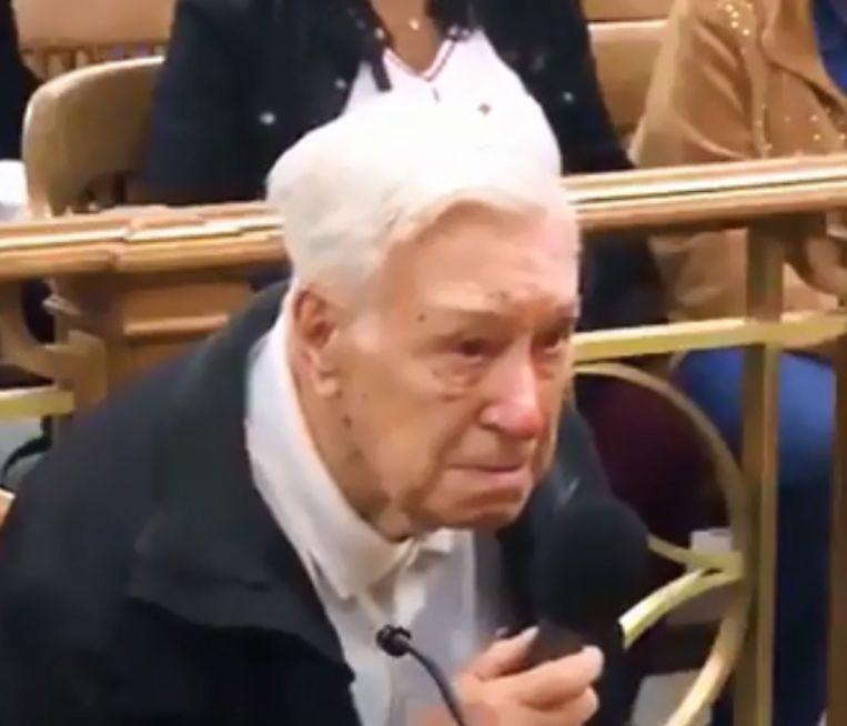 De hoogbejaarde verdachte.