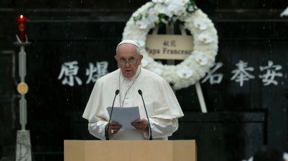 Paus roept in Japan op tot kernwapenvrije wereld