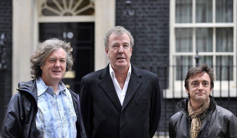 James May, Jeremy Clarkson en Richard Hammond, de presentatoren van Top Gear. Beeld null