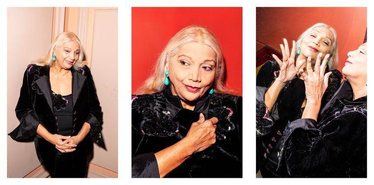 Asha Puthli: 'We denken nu dat jazz toen heel groot was, maar er was nauwelijks werk.' Beeld Hilde Harshagen