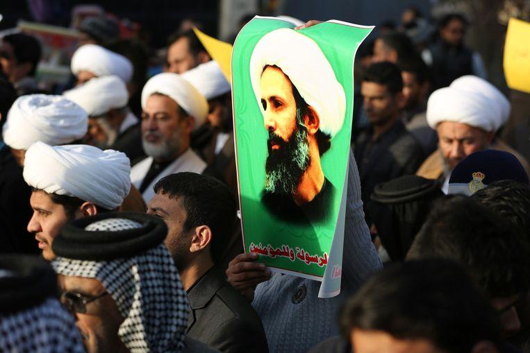 Demonstratie in Bagdad. Beeld afp