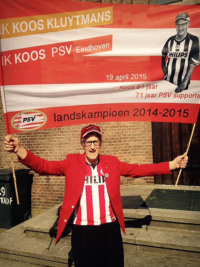 Koos Kluytmans was ook een fanatiek PSV-supporter.