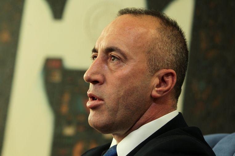 Ramush Haradinaj kondigde vandaag zijn ontslag aan.