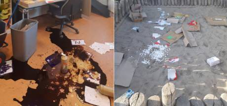 Vandalen richten ravage aan bij basisschool Vleuterweide in Utrecht