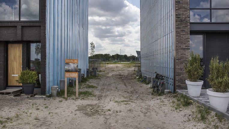 Bouw van nieuwe woningen op Zeeburgereiland. Beeld Floris Lok