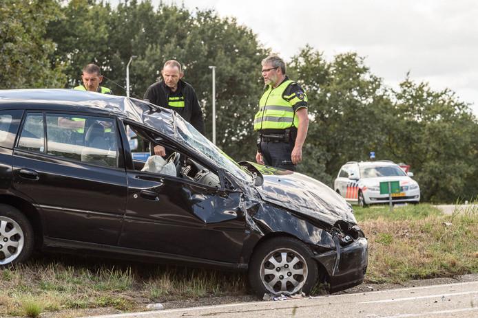 Ongeval op de A58 bij Sint Willebrord.