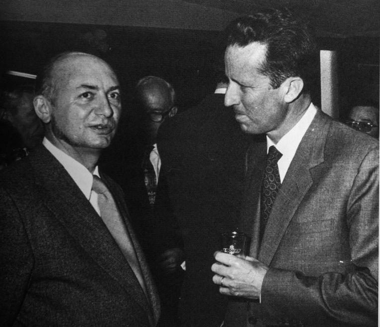 Geldolf in 1974 op de Boekenbeurs, in gesprek met koning Boudewijn.