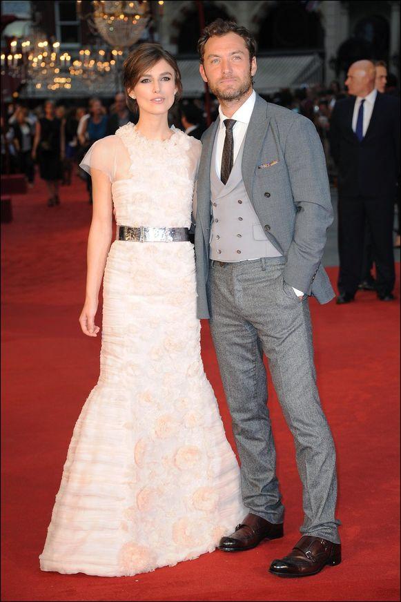 Keira en Jude Law op de wereldpremière van 'Anna Karenina'.