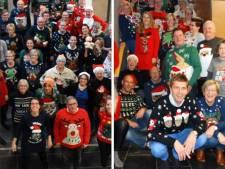 Foute Kersttruiendag Twenterand: wethouder Koster steelt show met schaarsgeklede kerstdame