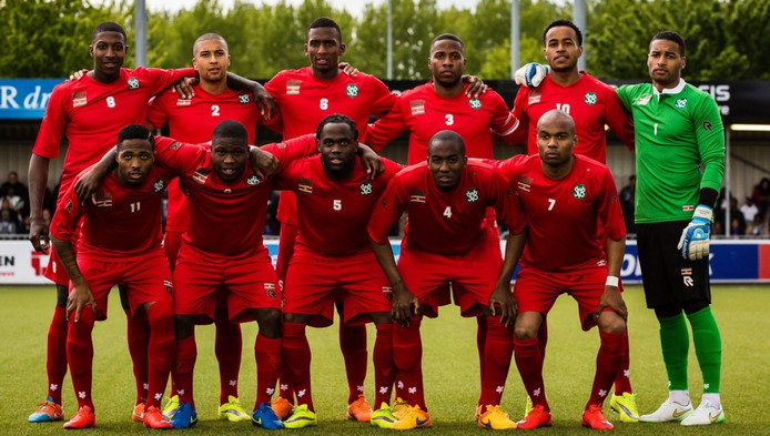 De nationale ploeg van Suriname.