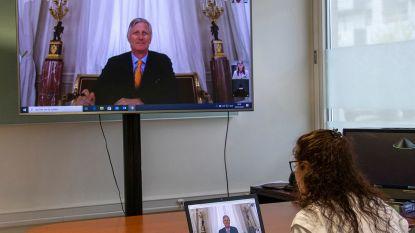 Koning Filip verrast inwoners en medewerkers woonzorgcentrum met live videogesprek