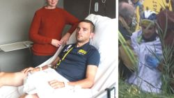 """Profrenner Edward Planckaert reageert vanuit ziekenhuis nadat hij aangereden werd en in gracht eindigde: """"Die bestuurder komt me wel helpen, dacht ik..."""""""