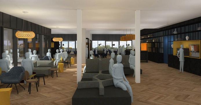 De lounge in het nieuwe U Parkhotel