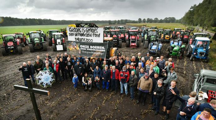 Protestactie boeren Noordoost Twente.