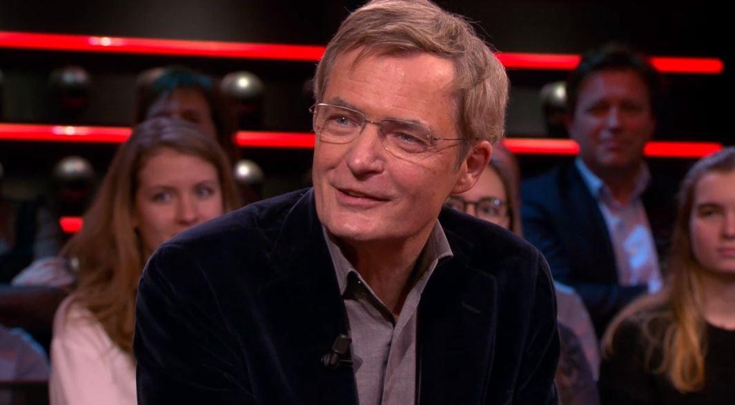 Herman Finkers in de uitzending van DWDD donderdagavond.
