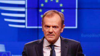 """Donald Tusk: """"Britten krijgen alleen uitstel als ze brexitdeal goedkeuren"""""""