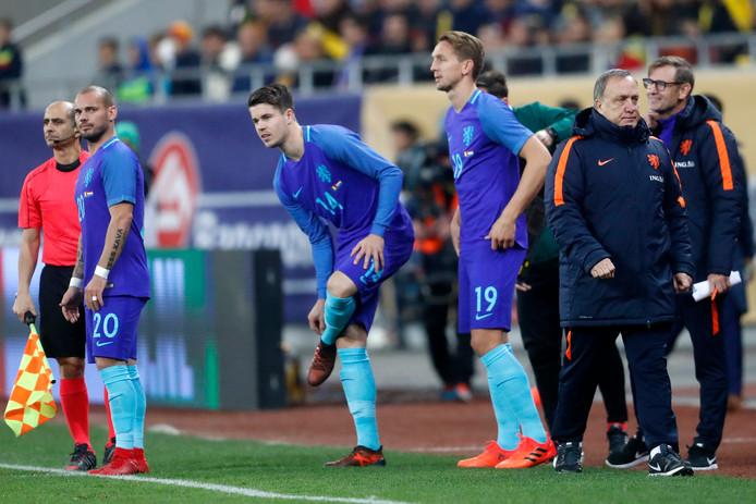 Luuk de Jong scoorde tegen Roemenië nog in het tenue van het Nederlands elftal.