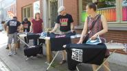 Protest tegen sluiting strijkwinkel OCMW