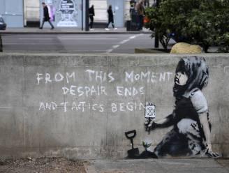 Schaart Banksy zich achter klimaatbeweging met dit nieuwe werk in Londen?