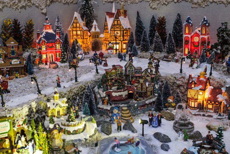 Het miniatuurkerstdorp van Frank Smet is misschien wel het grootste van Vlaanderen.