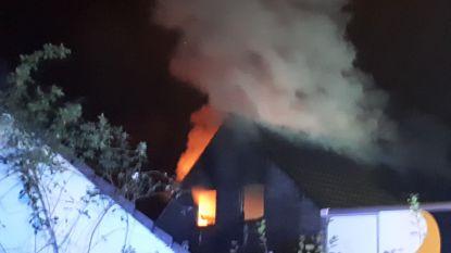 Grote schade aan woning door brand