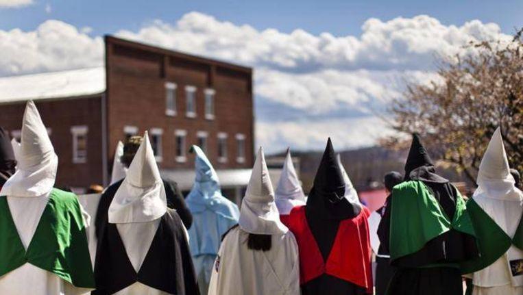 Ku Klux Klan-bijeenkomst in de staat Virginia. David Duke, oud-leider van de KKK, was de oprichter van EURO.