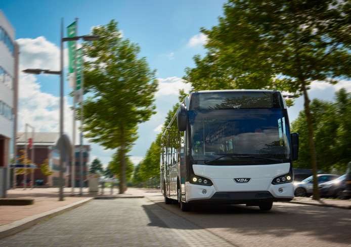 De lichtgewicht bus met lage instap van VDL.