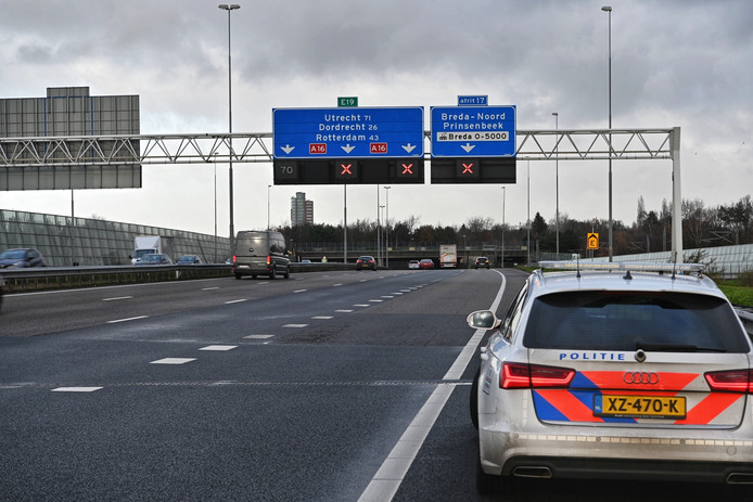 Ongeval op de A16 ter hoogte van Breda.