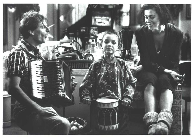 Genio de Groot speelde de vader van Mees in de Nederlandse kinderfilm Het Zakmes, 1992 Beeld