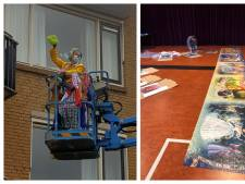 Clowns lappen ramen in Enschede en Deldense mega-puzzel eindelijk klaar