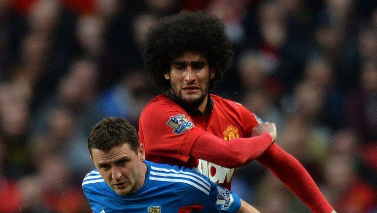 Fellaini had met twee assists een mooi aandeel in de 3-1-overwinning van Manchester United tegen Hull City.