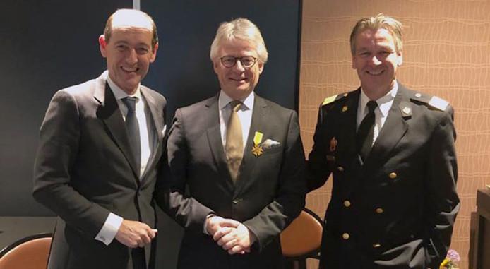 John Berends ontving deze week het Brandweerkruis.