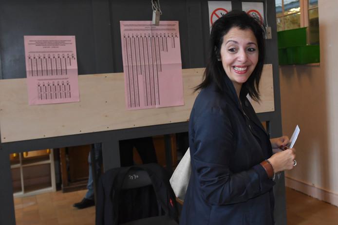 La co-présidente d'Ecolo Zakia Khattabi a voté à Ixelles.