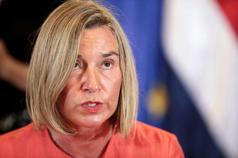 Federica Mogherini, de Hoge Vertegenwoordiger voor het Buitenlandbeleid van de EU.