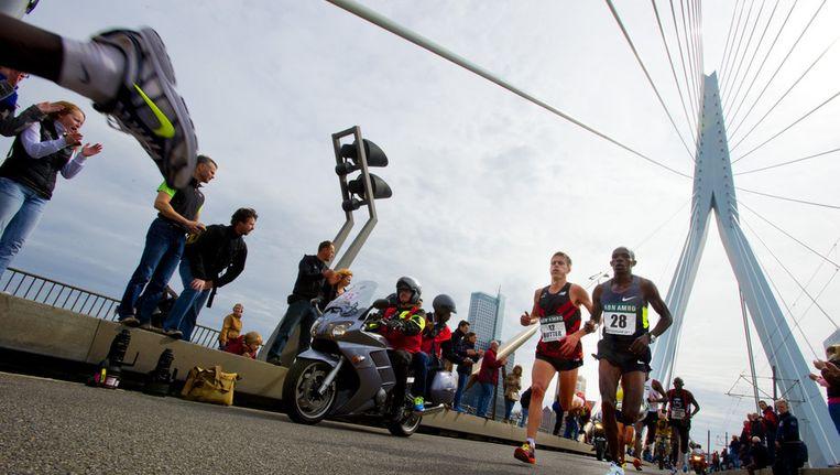 De marathon van Rotterdam van afgelopen jaar. Beeld anp