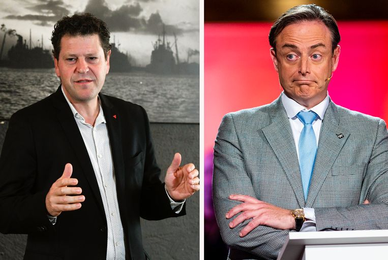Tom Meeuws en Bart De Wever. Archieffoto.
