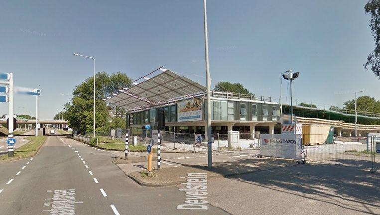 Parkeergarage Develstein in Zuidoost wordt 29 mei omgedoopt in de World of Foods. Beeld Google Streetview