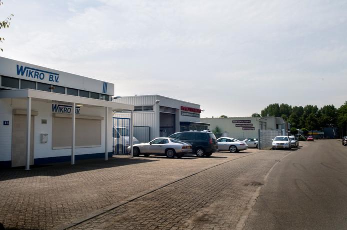 Straabeeld van industrieterrein Schaapsdrift in Renkum.