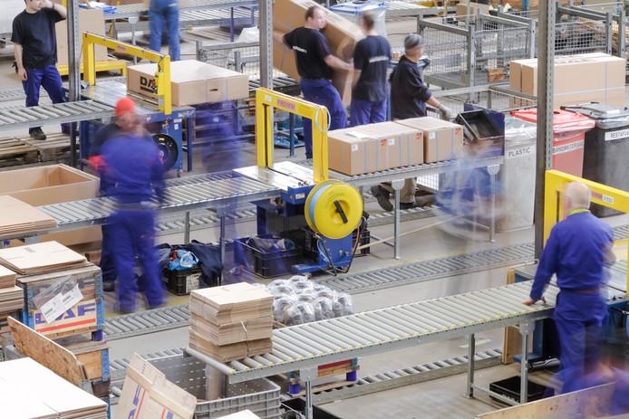 Het verpakkingscentrum van Paccar Parts, het onderdelenbedrijf van DAF Trucks.