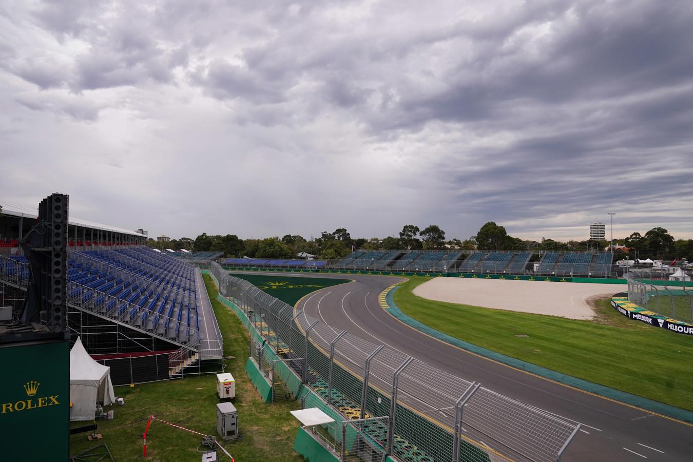 Het Albert Park Circuit in Melbourne blijft dit weekend leeg.