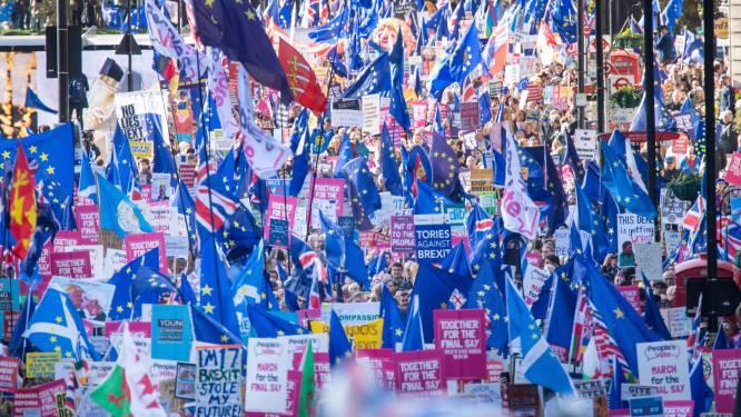 Honderdduizenden betogers overspoelen straten in Londen