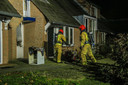 Het huis waaruit in de nacht van 11 op 12 januari in Gemert  een vrouw uit Gemert werd gered.