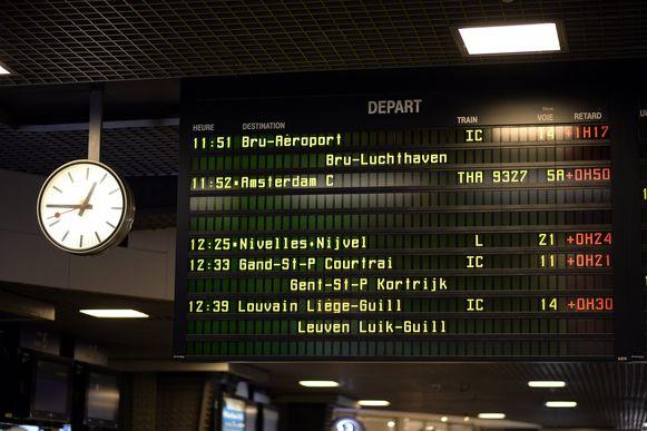 Forse vertragingen in Brussel-Zuid. Archieffoto.