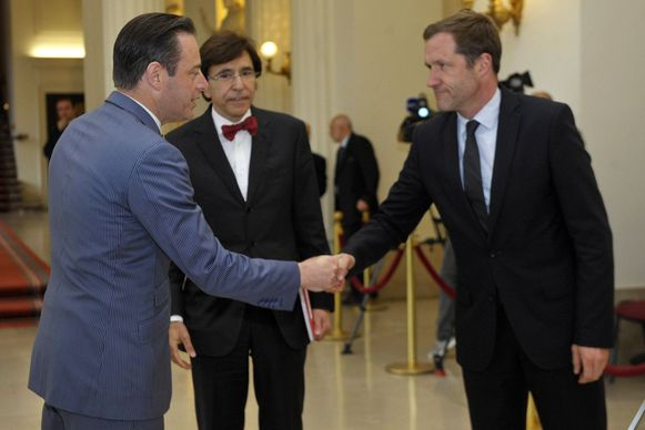 Bart De Wever, Elio Di Rupo en Paul Magnette.