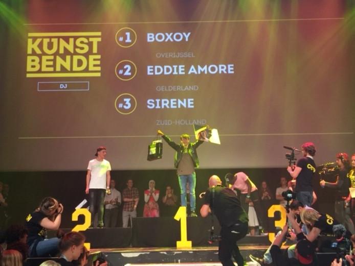 Winnaar Yoran Bosch, beter bekend als BOXOY. Foto: Paula Bosch