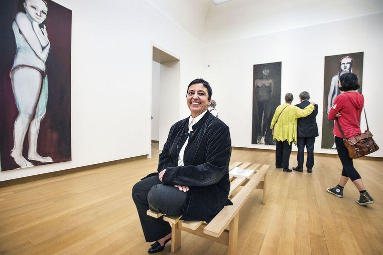 Directeur Beatrix Ruf van het Stedelijk Museum in Amsterdam: 'Donaties zijn belangrijk. Die komen niet als je niet omgaat met privéverzamelaars.' Beeld Guus Dubbelman