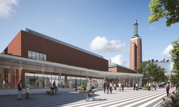 Plan voor de verbouwing van het museum. Beeld Mecanoo architecten, Museum Boijmans van Beuningen