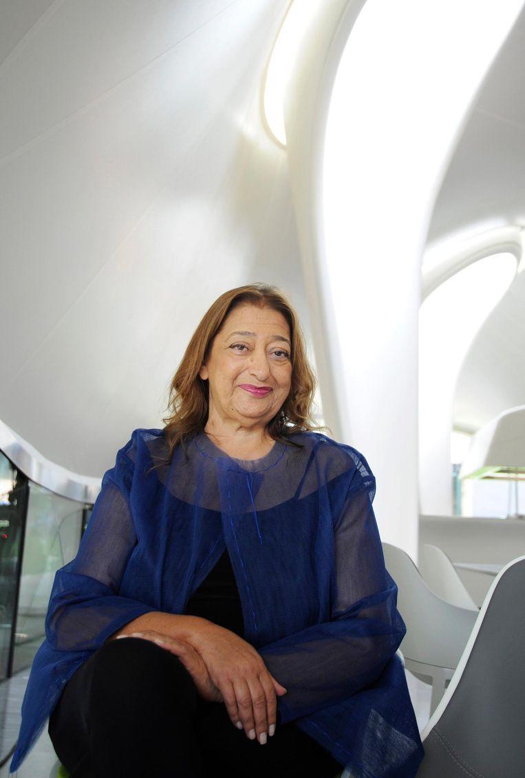 De Iraakse architect Zaha Hadid. Beeld epa